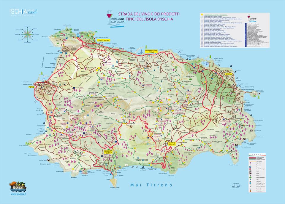 Mappa Hotel Ischia